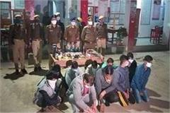 up police raid in illegal hookah bar 10 people arrested including big houses