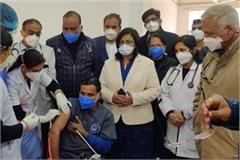 corona vaccination campaign started in haryana