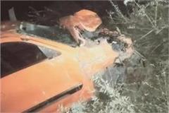 car falls in a ditch in bairagarh two dead including driver