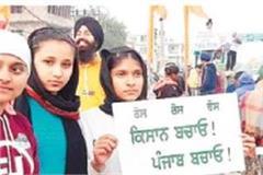 kisan andolan student protest