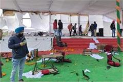 haryana news farmers uprooted tent of chief minister s rally site
