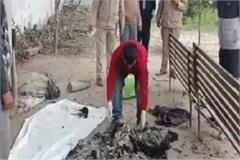 the person living in the slum was burnt alive