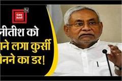 nitish started being harassed and afraid of snatching the chair