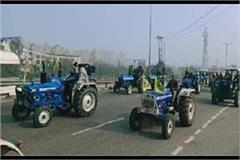 bharatiya kisan union holds huge tractor rally against agricultural laws