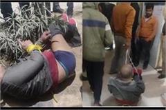 high voltage drama of drunken soldier in auraiya