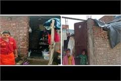 9190 beneficiaries of pm house facing cold wave spend night in tarpaul