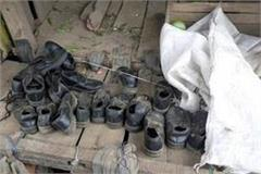 nearly 50 pairs of school children shoes found in the field