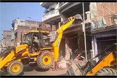 bulldozer fired on mafia kuntu singh s property