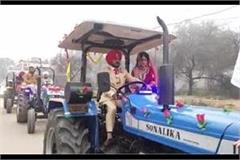 the groom supported the farmers in this way
