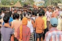 villagers agitated over death of accused in custody