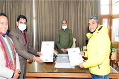 mou signed to develop india s first ski park in kufri