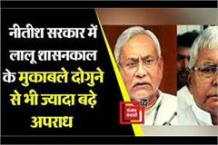 crime in nitish government double as compared to lalu reign