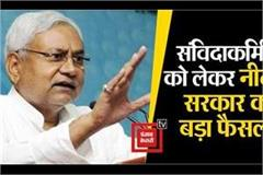 nitish government s big decision regarding contract workers