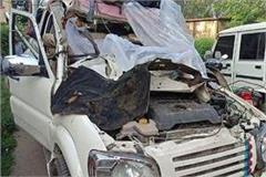 one person killed 3 others injured in a collision between two scorpio in saran
