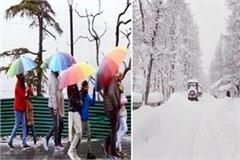 himachal shivered by rain snowfall and cold winds