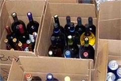 police raids illegal liquor contracts many types of bottles recovered