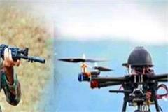pakistani drone on the border bsf jawans firing
