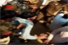 police beaten up with martyr family