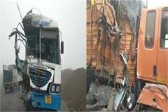 road accident passengers injured roadways bus and truck collision