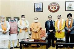 10 bjp and 2 newly elected mlc members of sp take oath