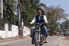 govt employee made petrol bike electric