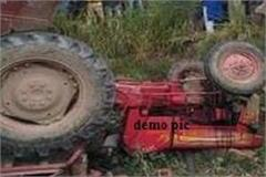 uncontrolled tractor trolley trench overturns 23 injured including one dead