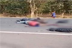 bulandshahr two killed in bike and bicycle collision stirred up