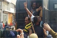 congress protest against cm shivraj ratlam visit