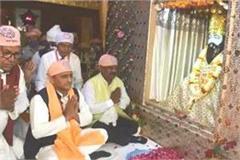 after priyanka akhilesh yadav reached the temple of sant