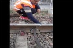 big accident railway line breaks due to animal collision with train