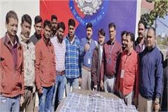 illegal weapon recovered and 8 arrested in bhopal by crime branch