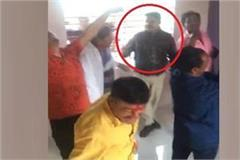policemen fiercely dancing with alcoholics at liquor party