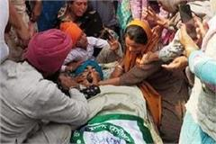another farmer broke down while going delhi protest