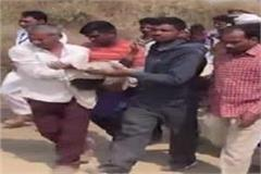 ex pradhan s brother strangled to death angry villagers create ruckus