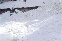 avalanche blocked trilokinath udaipur road