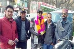 pankaj sharma of manali returned after touring 15 states in bike