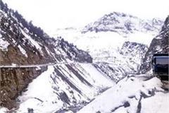 snowfall on rohtang and baralacha peaks