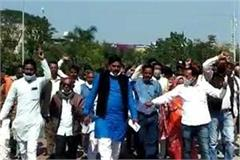 sarpanch union protest against electricity department in ratlam