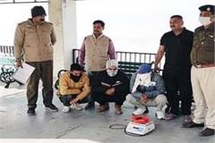 4 arrested with hashish