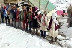 snow festival yaur festival started in uragos of udaipur