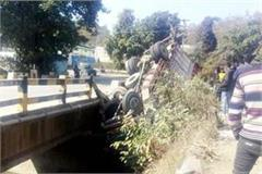 truck accident in moginand