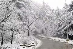snowfall on high peaks including rohtang