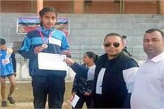 annaya won gold medal in athletic meet