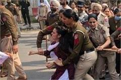 women s day the police  dragged and beaten  the teachers