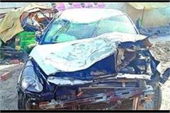 agra uncontrollable car crash three people dead