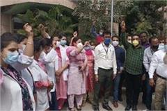 services in civil hospital stalled doctors and staff on strike