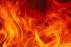 fierce fire in mobile gallery house