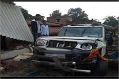 jaunpur uncontrolled bolero enters house 8 injured including innocent