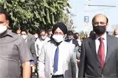 una rail line will reach mukeriya as soon as land is acquired in punjab gangal