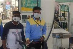 petrol and diesel will be available only after wearing masks